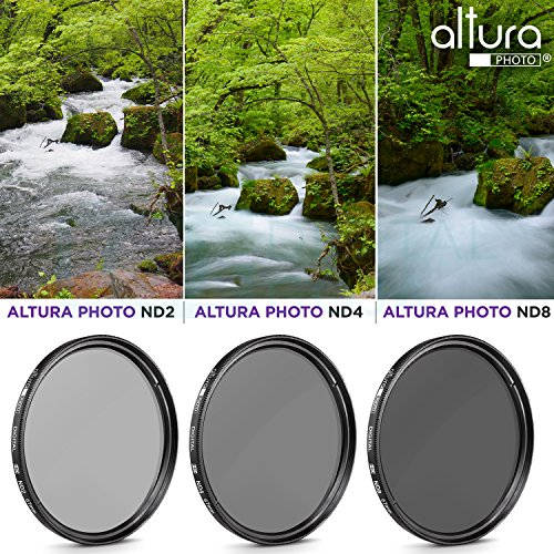 67MM Altura Photo Neutral Density Professional Photography Filter Set (ND2 ND4 ND8) + Premium MagicFiber Microfiber Cleaning Cloth
