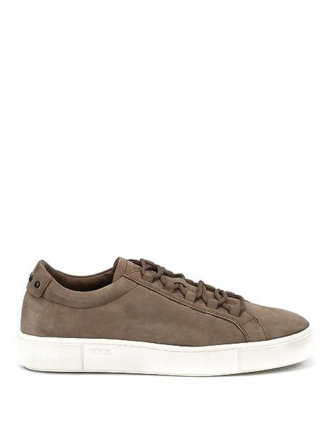 Tod s Sneaker in Nabuk Color Nocciola XXM56A0V4305IPC407 Marrone Uomo 5 4549f18655a