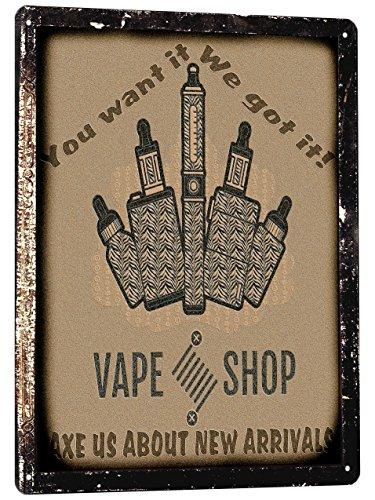 VAPING Shop Metal Sign classic vape pen vintage style mancave wall decor 676