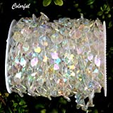 Tobway 98Ft Crystal Like Beads by the roll - Wedding Decorations - 1Roll (Colorful)