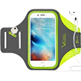 Workout Armband for iPhone 7 Plus, VCOO iPhone 6s/6 Plus Arm Band for Sports, Running Holder for Samsung Galaxy LG HTC Nokia MOTO with 5.5 Inch Screen, Build in Key + Headphone + Cards/Cash(Green)