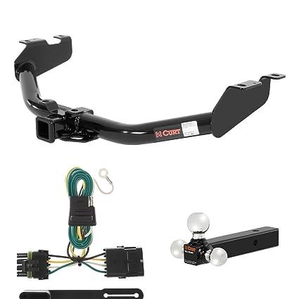 amazon com: curt trailer hitch, wiring & ball mount for chevy silverado, gmc  sierra: automotive
