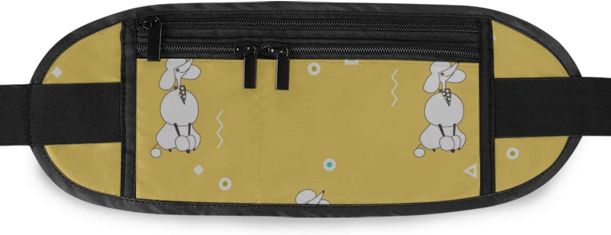 Travel Waist Pack,travel Pocket With Adjustable Belt Breeds Dogs Poodle Pattern Minimalism Running Lumbar Pack For Travel Outdoor Sports Walking