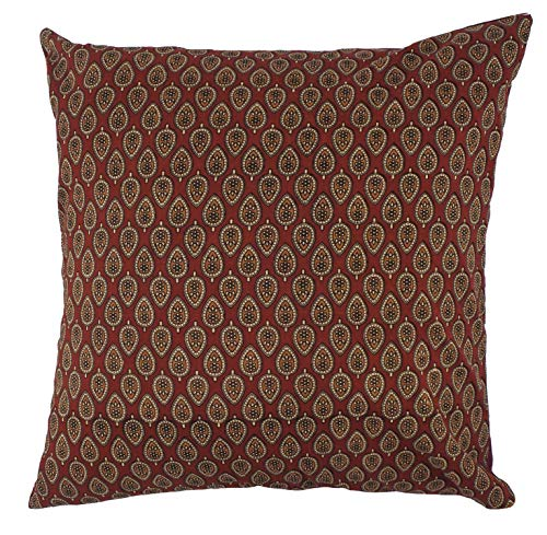 Divine Home Acorn Block Print Indoor Pillow, 20