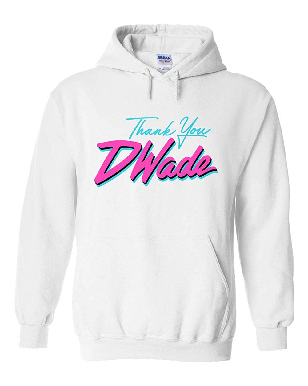 huge discount d445e 3615f PROSPECT SHIRTS White Miami D Wade Thank You Hooded Sweatshirt