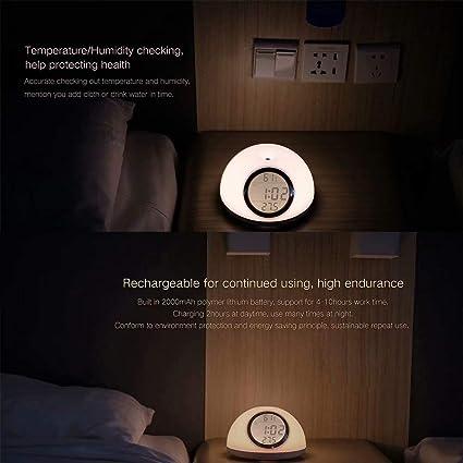 Amazon.com: Jpettie Motion Sensor Gesture Control RGB Wake-Up Light Alarm Clock with Sunrise Simulation Sunset Fading Snooze: Home & Kitchen