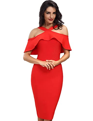 Adyce Bandage-Dress-Rosa New Year Partykleid,Christmas Sexy Night Club Evening Dressing for Wedding ...