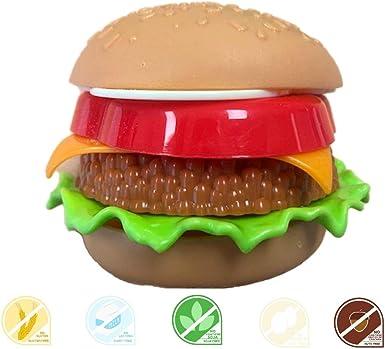 FunnyCandy Burger Diper- Chupete De Caramelo Y Polvos Picapica Con Forma De Puzzle De Hamburguesa - 3 Sabores Distintos, 12 Unidades