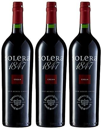 Solera 1847 Cream - Vino DO Jerez - 3 botellas 1000 ml - Total: 3000 ml