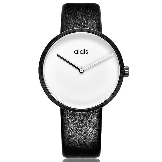 Relojes Relojes de Cuero para Hombre, para Mujer, para Mujer Relojes Moda (Color