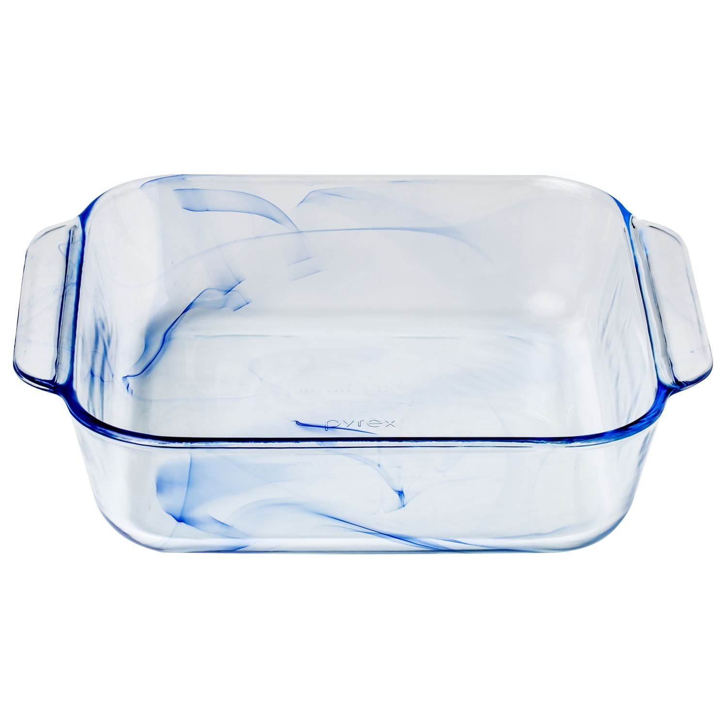 Pyrex, Pan Square Glass Blue, 1 Count