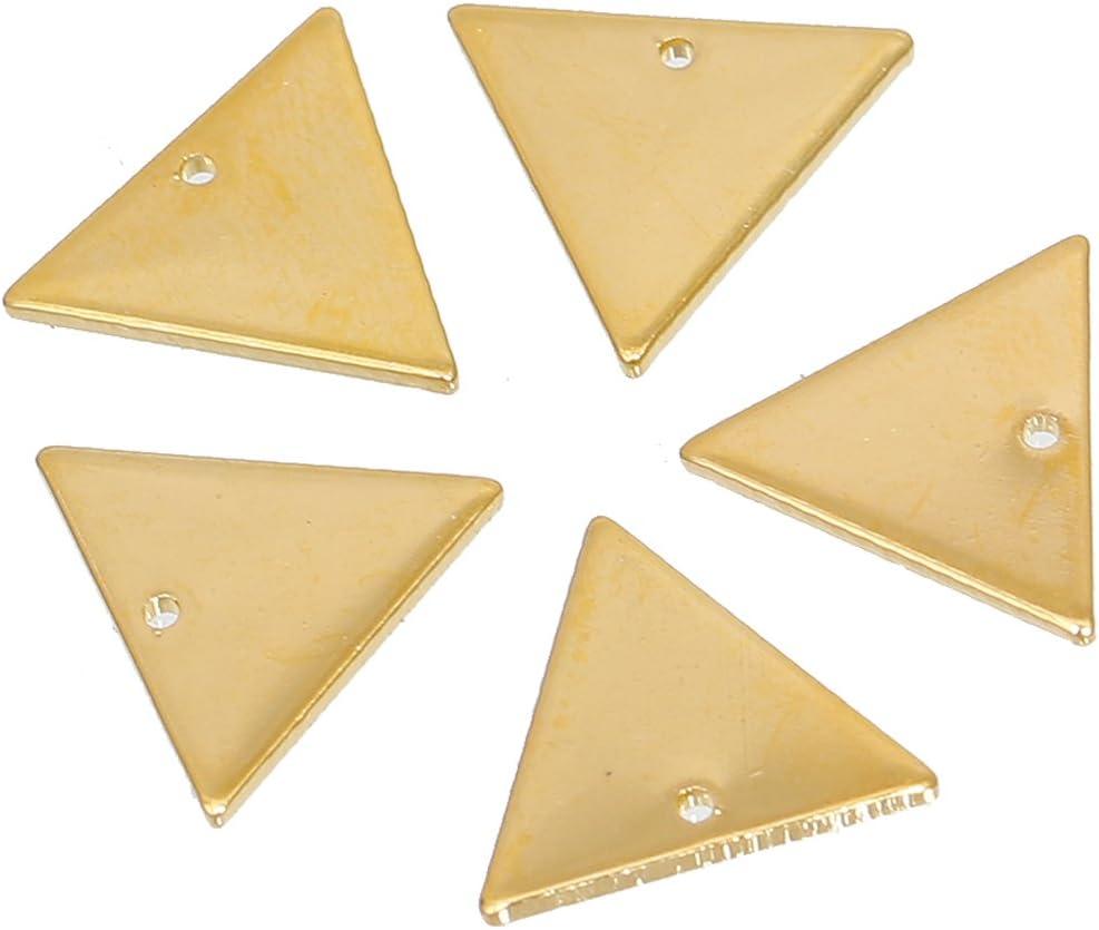 SiAura Material Lot de 10 pendentifs triangulaires Dor/é 14 x 12 mm