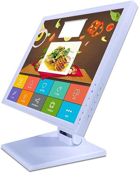RANZIX - Monitor de caja registradora (pantalla táctil de 17 pulgadas, VGA, USB, para sistema de caja registradora), color blanco: Amazon.es: Informática