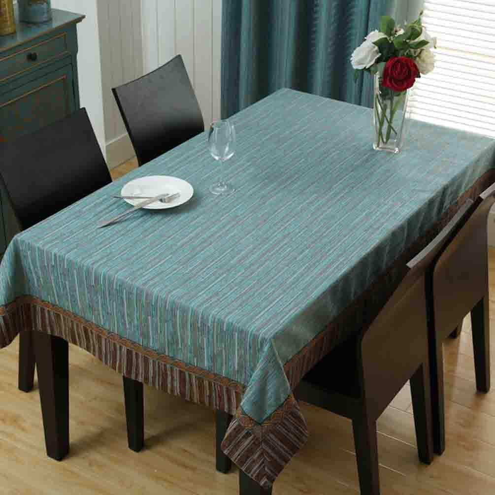 Tischdecken Baumwolle Leinen rechteckigen Esstisch Tuch Hause Kaffee Tuch Tischset , 001 , 130180cm  110170cm