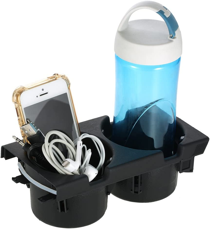 Goolsky Car Front Center Console Drink Cup Holder Goods Storage 51168217953 compatible for BMW 3 Series E46 1999-2005
