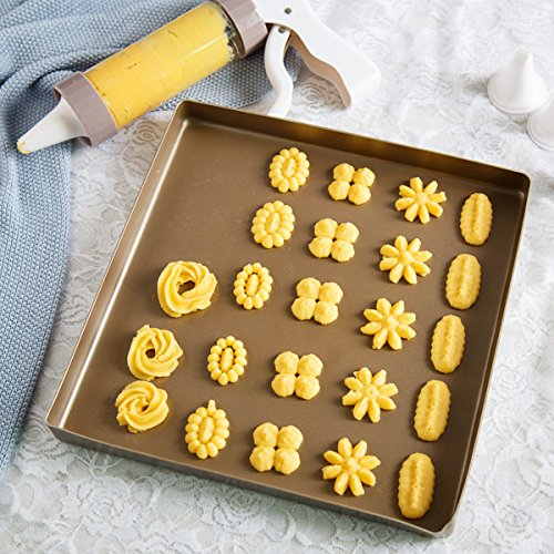HX-CKLL Icing Gun Set,Dessert Decorator Plus,Decorating Kit For Cakes,Comfort Grip Stylish Cookie Press Kit Cake Cookies Making Decorating Gun for spritz butter cookies (Decorator Set)