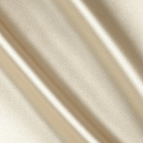 Ben Textiles Stretch Charmeuse Satin Fabric by The Yard, Champagne