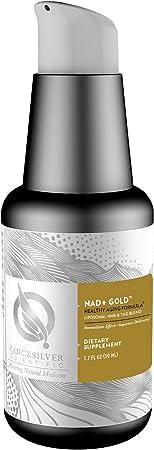 Quicksilver Scientific Liposomal NAD+ Gold - Liquid NMN + TMG Supplement - Help Boost NAD for Healthy Aging, Cognitive + Energy Support - Gluten Free, Non GMO + Superior Absorption (1.7oz / 50ml)