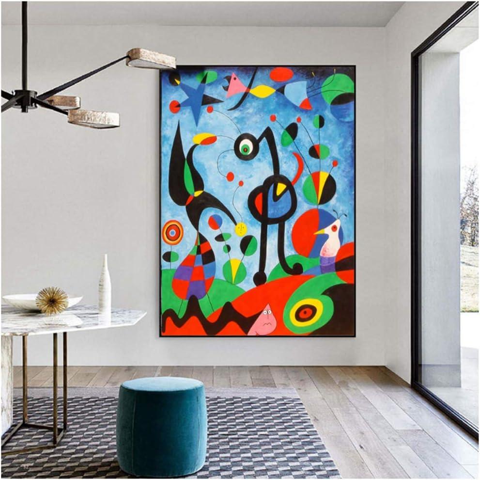 nr The Garden 1925 por Joan Miro Pinturas en Lienzo Arte de la Pared Carteles e Impresiones Joan Miro Famosos Cuadros en Lienzo para Sala de estar-50x70cm Sin Marco