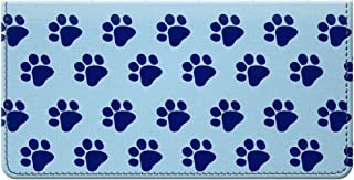 Snaptotes Blue Paw Print Design Checkbook Cover