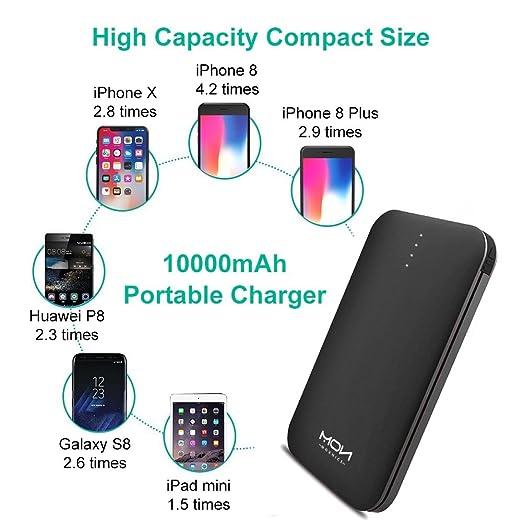 MOXNICE Batterie Externe 10000mAh Power Bank Petit Chargeur Portable Rapide  et Portable de Batterie avec Micro USB Câble Intégré pour iPhone Android  Samsung ... dbd0068102f