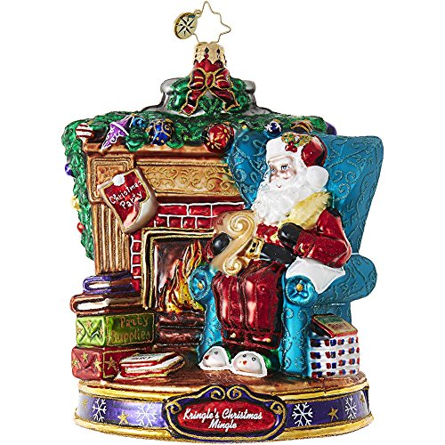 Christopher Radko Fireside Party Planning Santa Kringle's Christmas Mingle Ornament