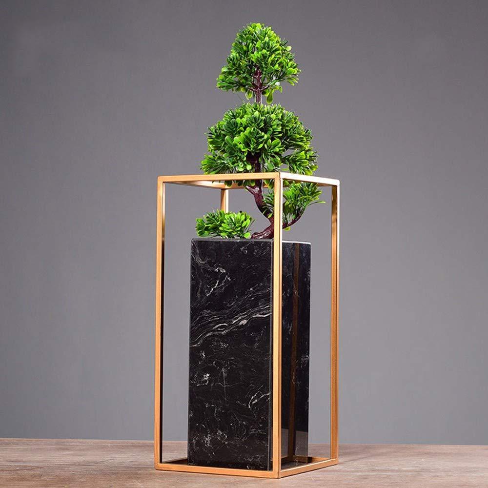 GAOLI Marble Simulation Gruß Kiefer, Grünpflanzen, Topf Ornamente, Portraits, Hotel Innendekoration Hoch