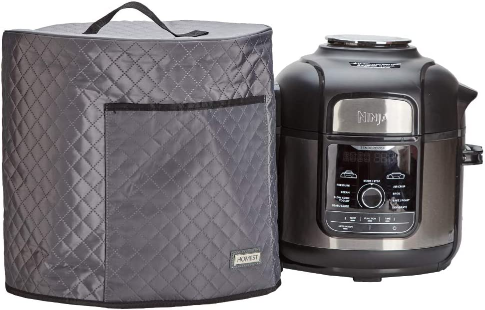 HOMEST Dust Cover for Ninja Foodi Pressure Cooker 8 Quart, Cover with Foil Liner, Easy to Clean, Grey (Patent Pending)