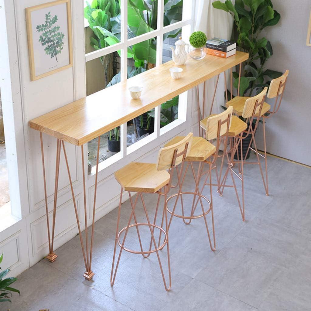 Barkruk set 4, barkrukken met rugleuning voor ontbijtbar, aanrecht, keuken en thuis barkrukken Verkrijgbaar in vier kleuren Rose gold-yellow