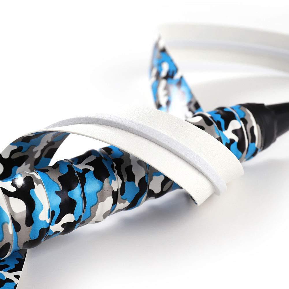 rycnet Multicolor Camouflage Anti-Slip Tennis Badminton Squash Ball Racket Handle Cover Strip Racket Overgrips for Anti-slip