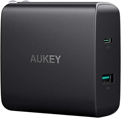 AUKEY USB C Charger with 56.5W USB C Wall Charger, One 46W Power Delivery & 5V / 2.1A Wall Charger, Compatible with MacBook, iPhone 11/11 Pro/Max, ...