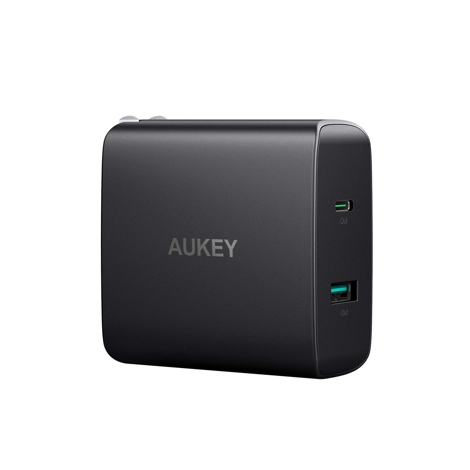 AUKEY USB C Charger with 56.5W Wall Charger, One 46W Power Delivery 3.0 & 5V / 2.1A Ports USB Wall Charger, Compatible MacBook, iPhone Xs/XS Max/XR, Samsung Galaxy S8 / S8+ / Note8 and More