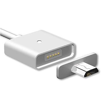 WSKEN 1 m 3 Ft libre de enredos único Metal magnético Micro USB Cable cargador de sincronización para smartphones Android, Samsung Galaxy, Nexus, LG, ...