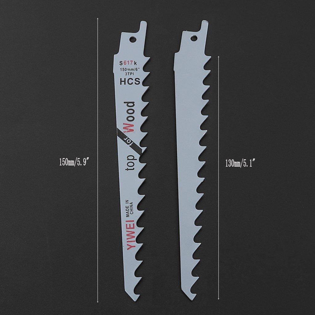 Slylive 2/pcs 6//¡/± Lames de scie sabre Sharp S617/K Extra Sabre d/élagage pour bois de s/écurit/é