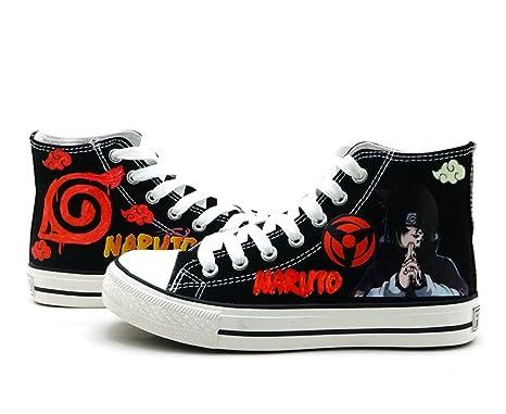 Naruto Anime Uchiha Sasuke Cosplay Shoes Canvas Shoes Sneakers