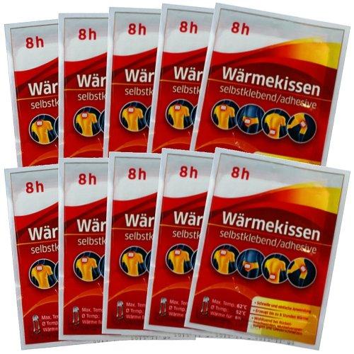 10er Set Wärmekissen 8h, Wärmepflaster Schmerzpflaster Wärmepads Rückenwärmer Exklusiv von M&H-24