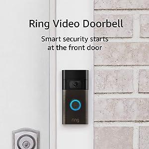 Ring Video Doorbell – 1080p HD video, improved motion detection, easy installation – Venetian Bronze (2020 release)