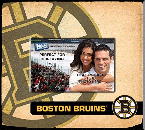 NHL Boston Bruins Scrapbook (Ticket Boston Bruins Ticket)