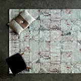 """Maxy Home Valencia Premium 5×8 (5'3″ x 7'7"""") Shed Free Easy Care Stain Fade Resistant Contemporary Bohemian Rose Marble Patch Bedroom, Living room, Kitchen Area Rug"""