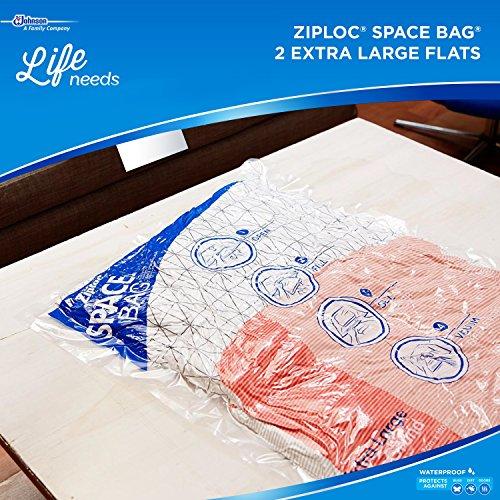 031810700118 - Ziploc Space Bag,  XL Flat Bag, 2 Count carousel main 8