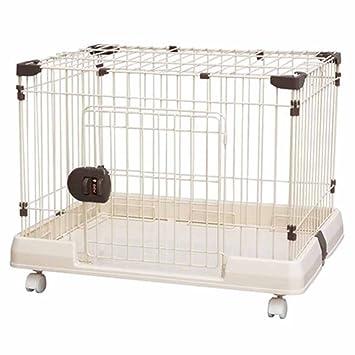 XCLLL Cerca De Mascotas Perros Medianos/Pequeños Jaula De Perro Jaulas para Gatos, Universal La Seguridad Polea, Fácil De Mover No Se Oxida Portátil,M ...