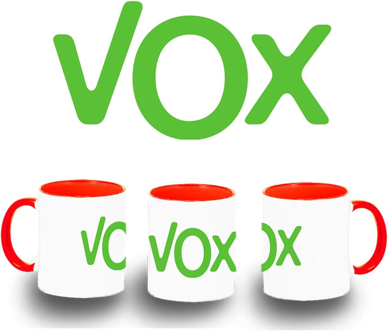 MERCHANDMANIA Taza Azul Logo Partido VOX Color mug: Amazon.es ...