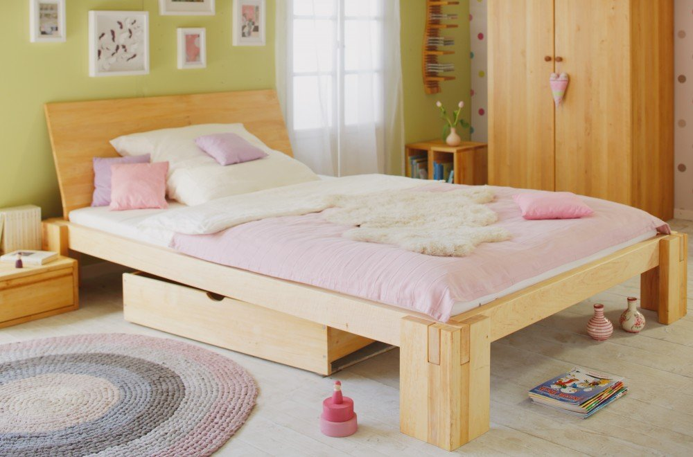 BioKinder 22144 Darío cama para adolescentes 140x200 cm, madera biológica