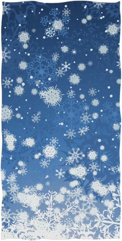 Christmas Cute Snowman Snowflake Pattern Soft Cotton Hand Towels Warm lin
