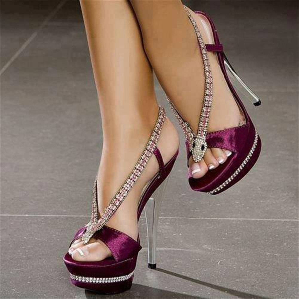 Women's Shoes PU Shoes Summer Fall Comfort Shoes PU Sandals Walking Shoes Stiletto Heel Open Toe Rhinestone Sparkling for Casual Dress Party & Evening B07F7JQB2Z Heeled 63f158