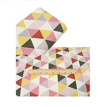 Amazon.com: Tela de lona con estampado geométrico de un ...