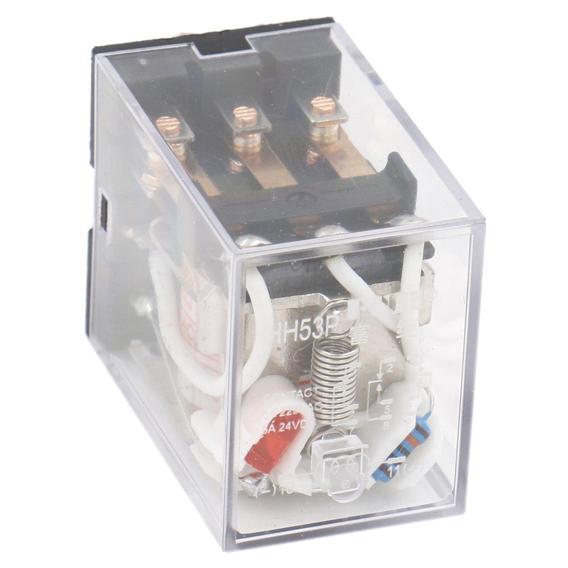 heschen Gereral propósito alimentación del relé HH53P-L Bobina de 220VAC 5A 220VAC/24VDC 3PDT 11Pin Terminales Indicador LED