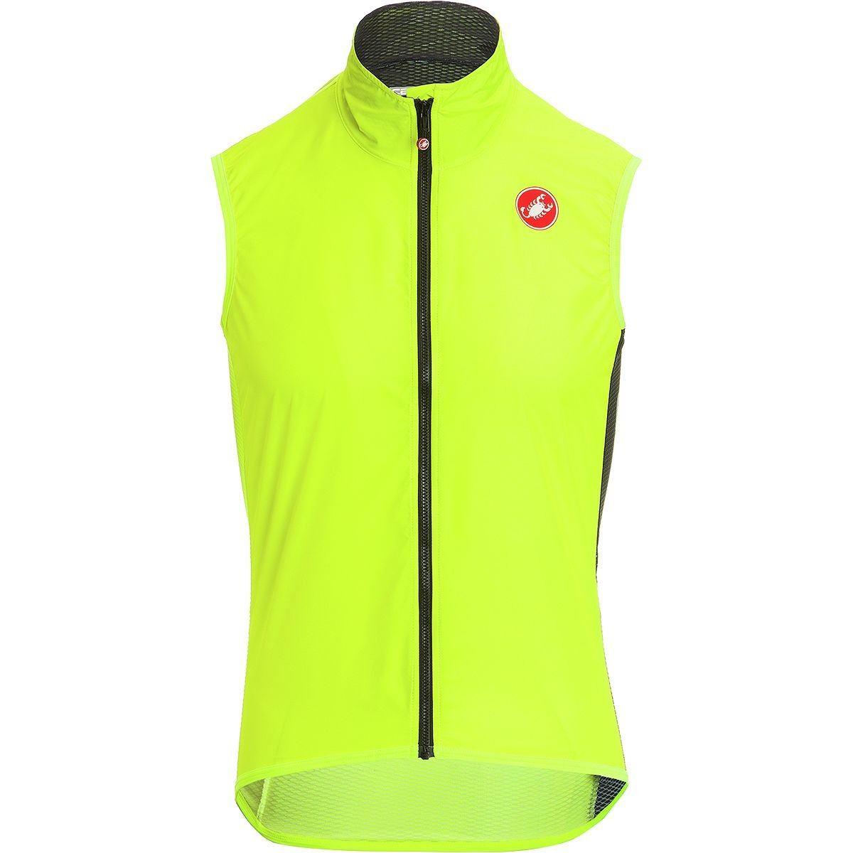 Castelli Pro Light Wind Vest - Men's Yellow Fluo, S by Castelli