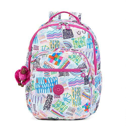 8e4eed7259 Kipling Seoul Large Printed Laptop Backpack Rio Vine - Import It All