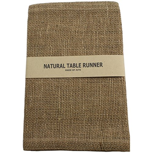 Kel-Toy Burlap Jute Table Runner/Fold and Sew Edge, 14 by 72-Inch, Natural ()